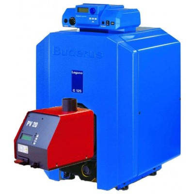 Недорогой котел Buderus + Pelltech PV20a (20 кВт)