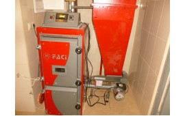 Запуск котла FACI 15 в загородном доме площадью 130 квадратных метров